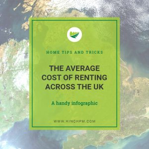 The average cost of renting across the UK