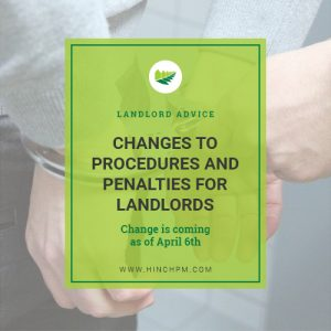 Changes to procedures and penalties for landlords