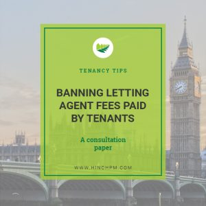 Banning letting agent fees paid by tenants
