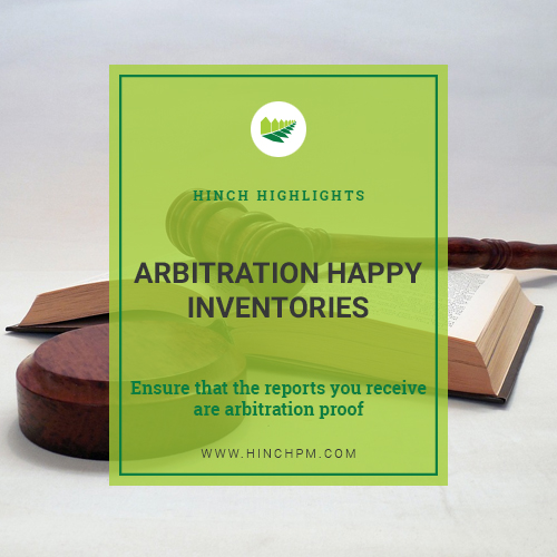Arbitration Happy Inventories