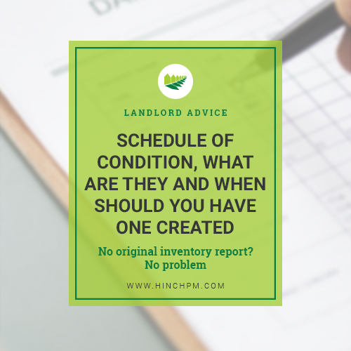 Schedule of condition title image